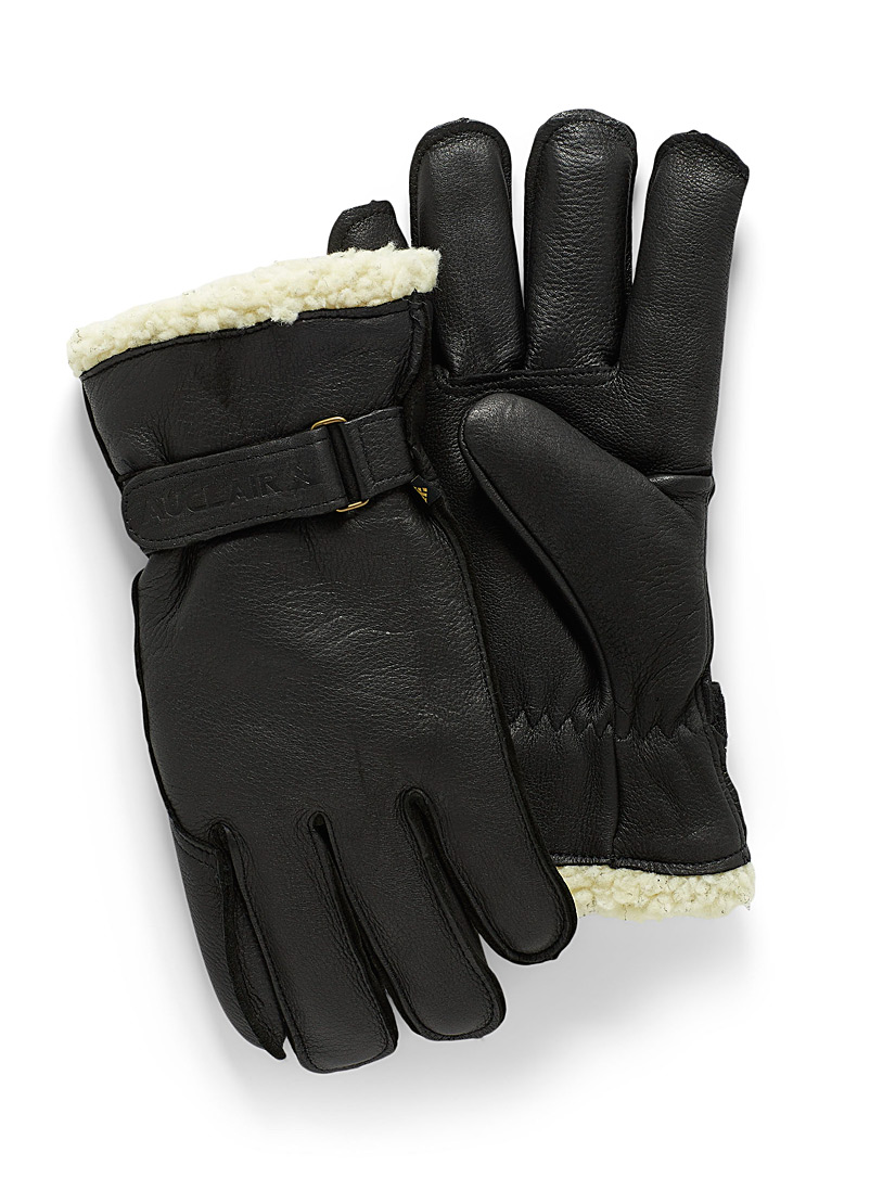 sherpa-lined-leather-gloves