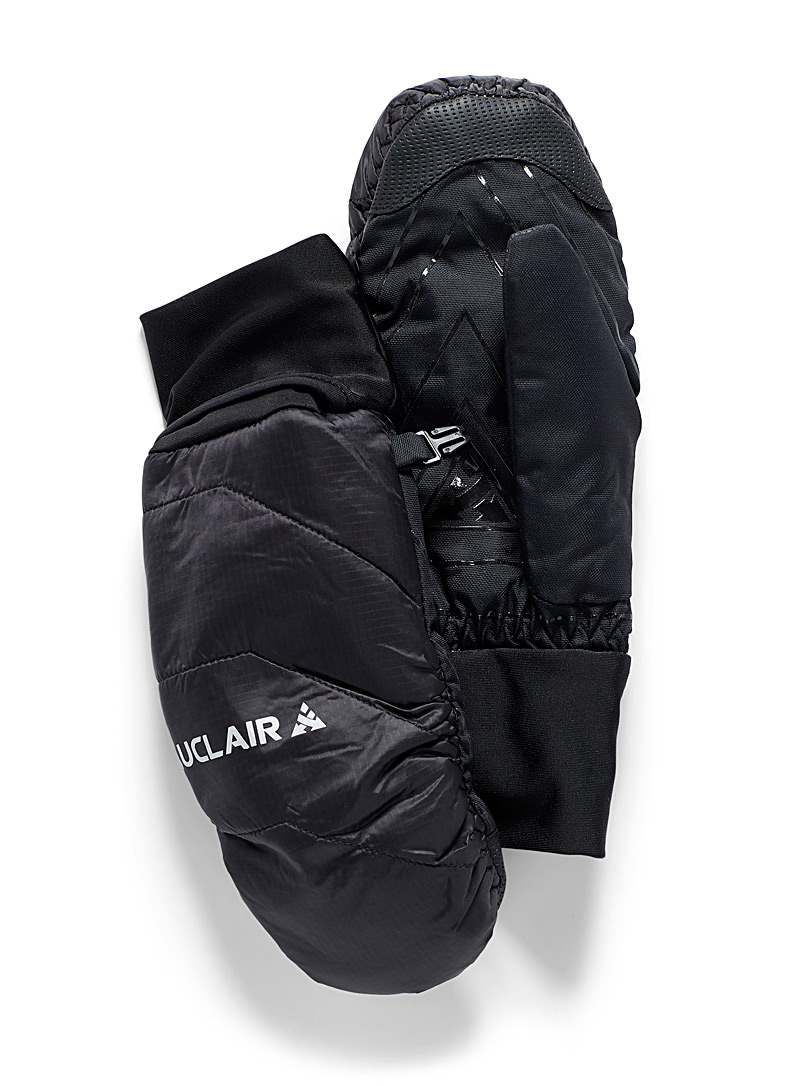 Auclair Black Refuge quilted mittens for men