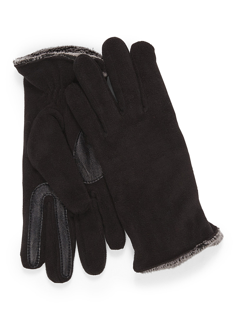 Auclair Black Polar fleece gloves for women