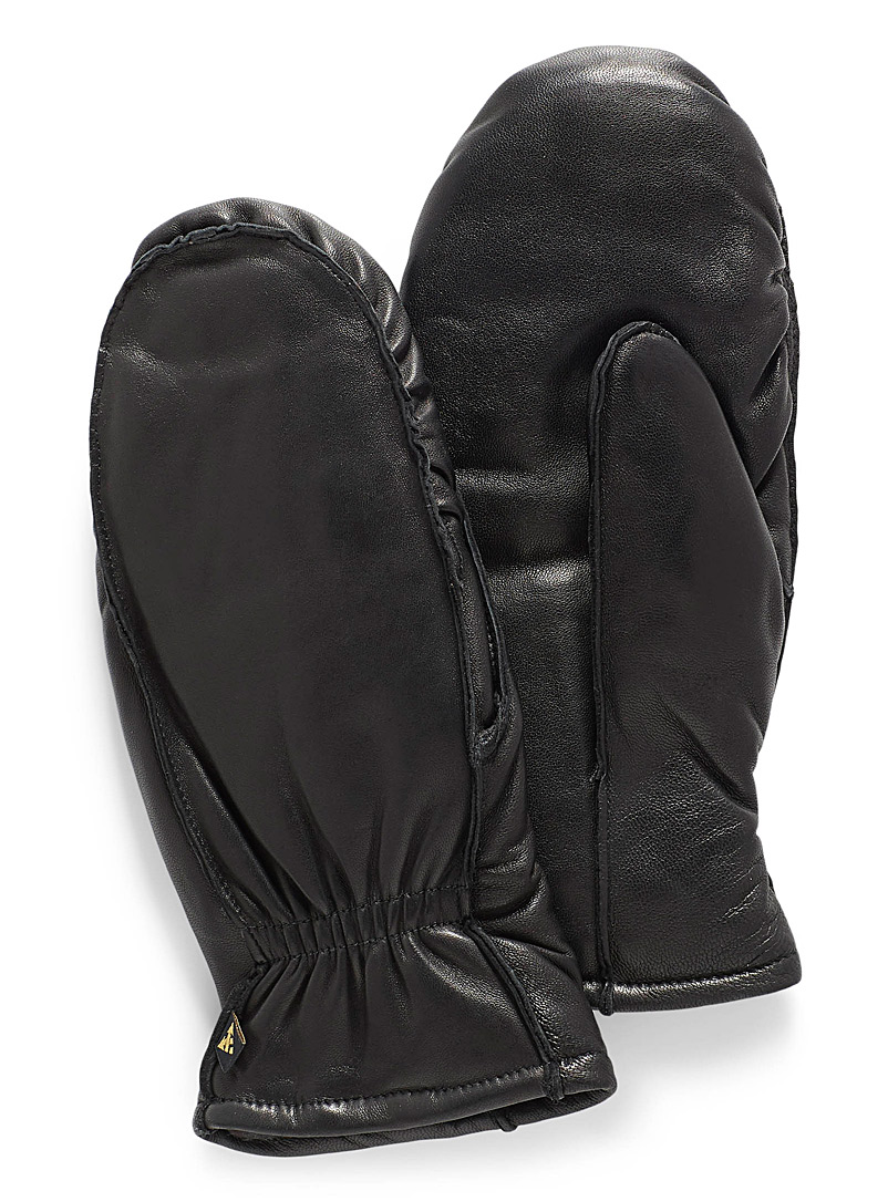 Auclair Red Built-in glove leather mittens for women