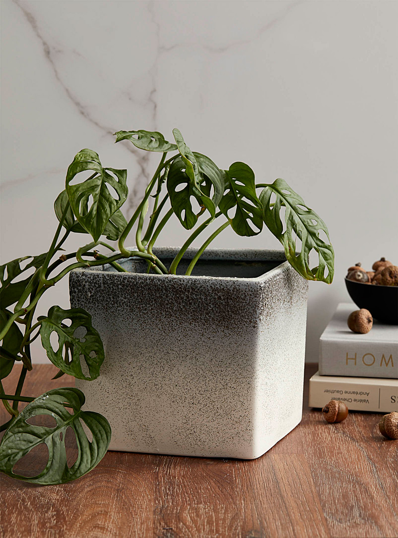 Simons Maison Black and White Flecked ombré planter