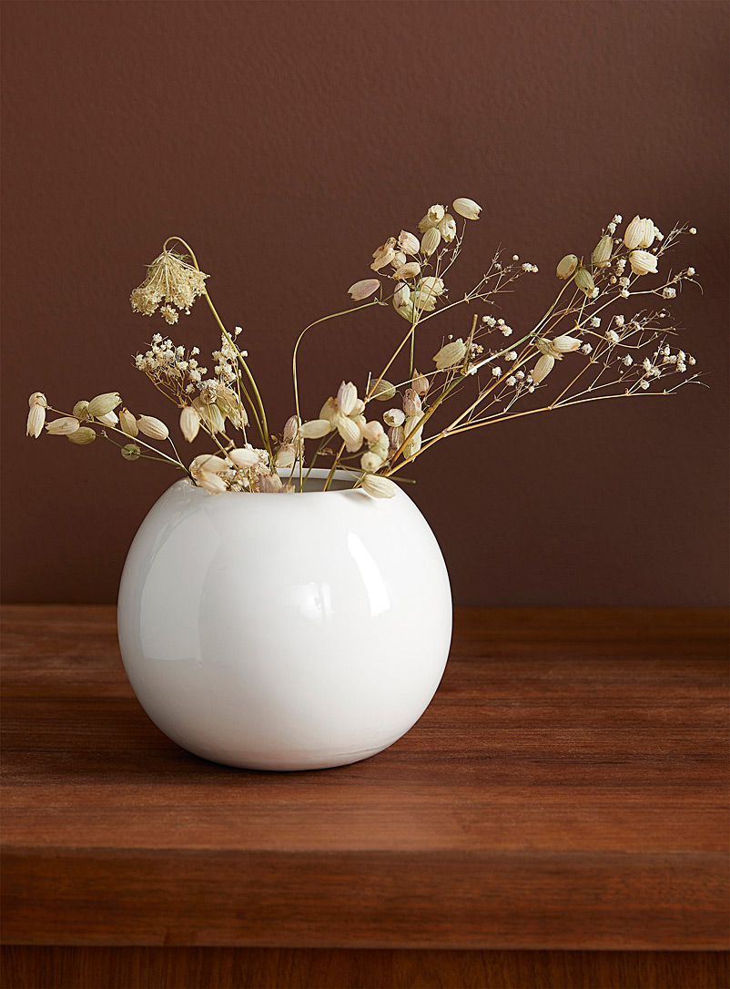 Simons Maison White Flawless sphere planter 3.25""