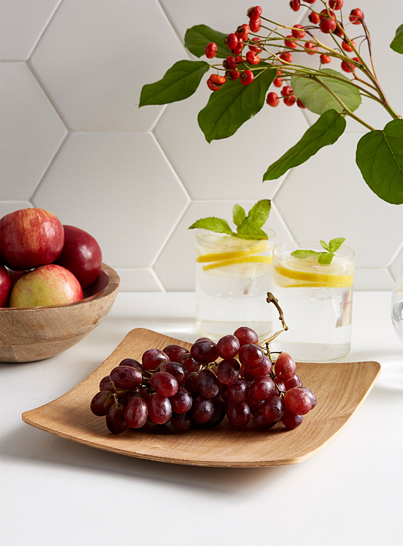 Curved bamboo square plate - Platters & Serving Boards - Assorted