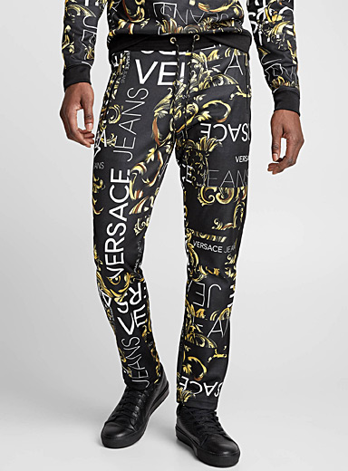Baroque pattern and logo track pant