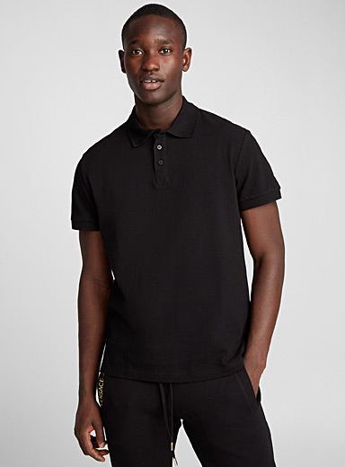 Gold logo polo