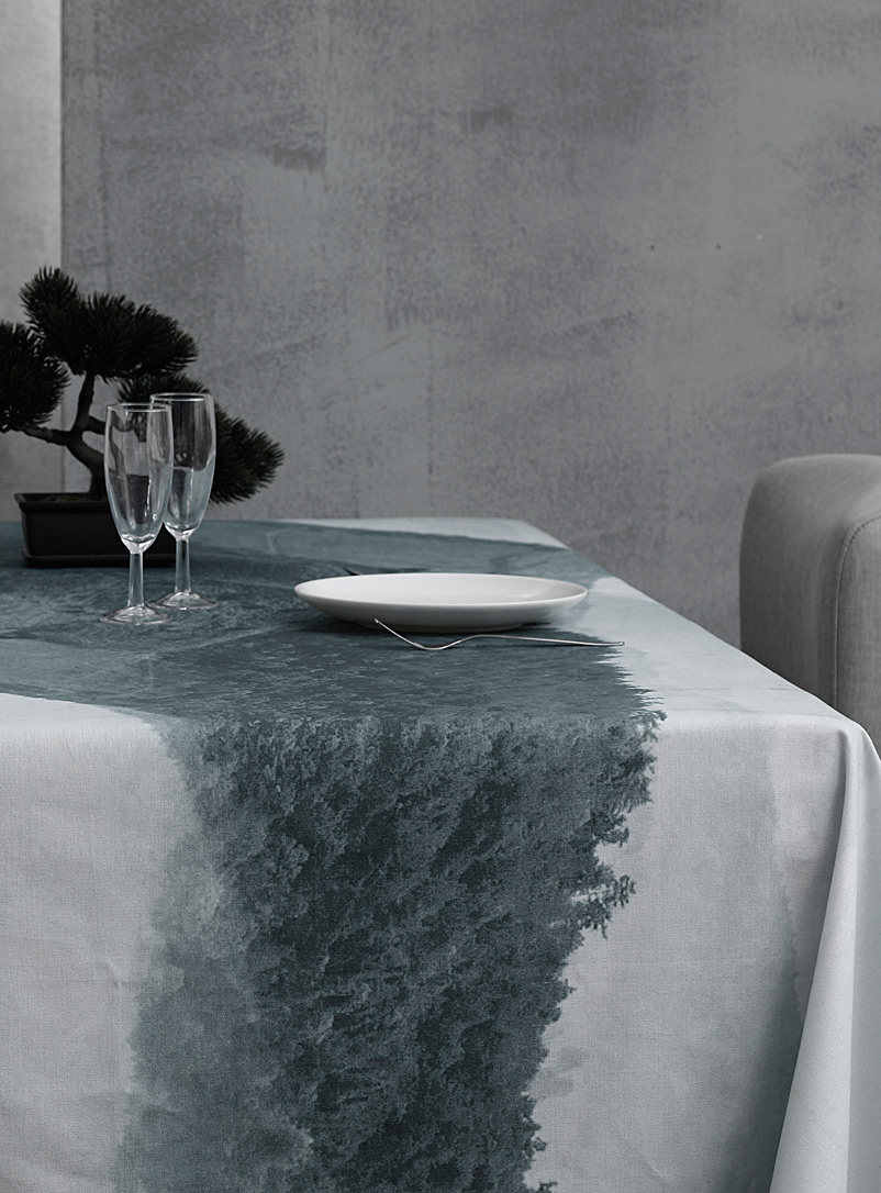 Nyoka pure cotton tablecloth - Printed - Slate Blue