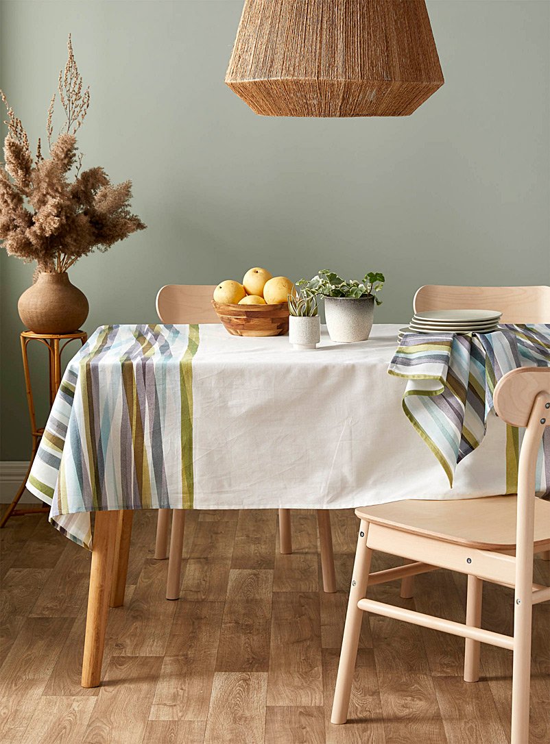 Cloth & Clay Assorted Mineral stripe pure cotton tablecloth