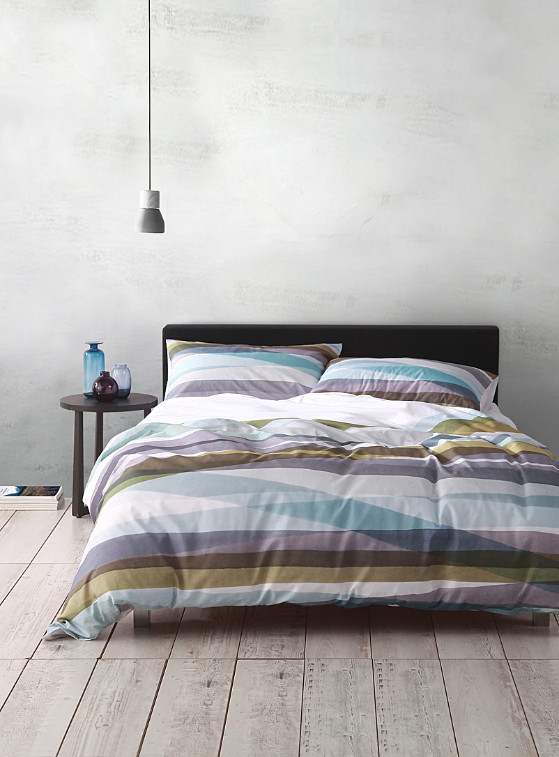 Cloth & Clay Assorted Mineral stripe duvet cover set
