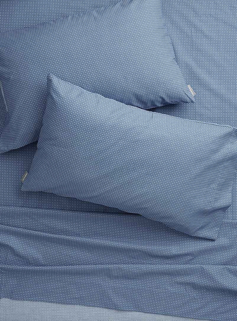 Cloth & Clay Blue Masculine print 300 thread count sheet set