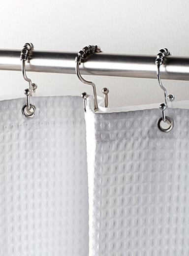 Double shower curtain hooks  Set of 12