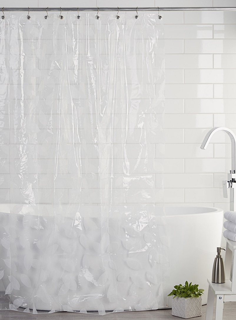 Sheer Foliage Peva Shower Curtain