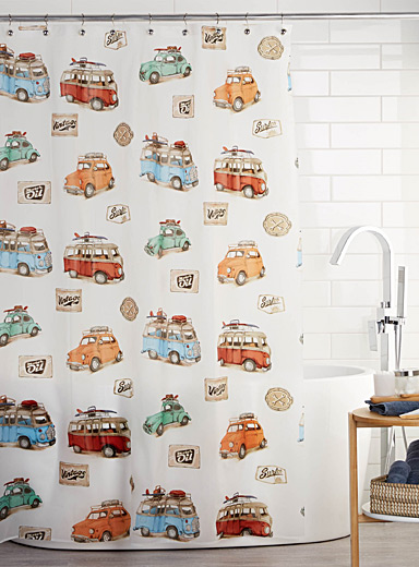 On the road EVA shower curtain
