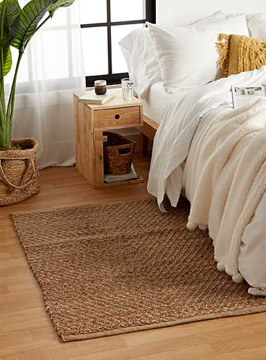 Reversible jute diamond rug 92 x 154 cm