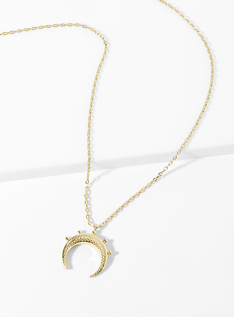 Textured crescent necklace - Necklaces - Assorted