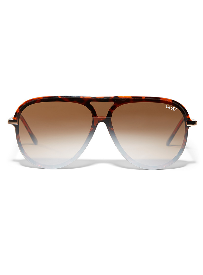 Quay Light Brown Empire sunglasses for women
