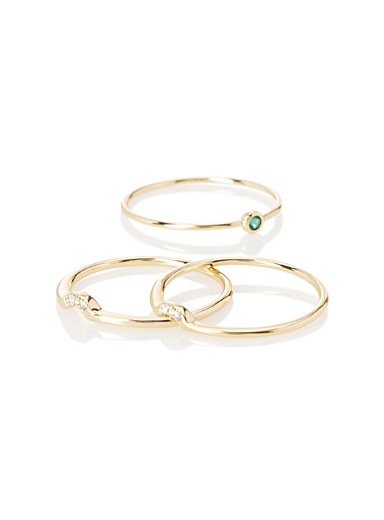 Stackable gold rings  Set of 3