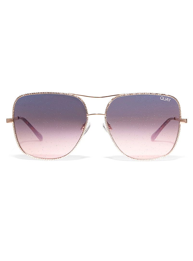 Quay Assorted Stop and Stare Twist square sunglasses for women