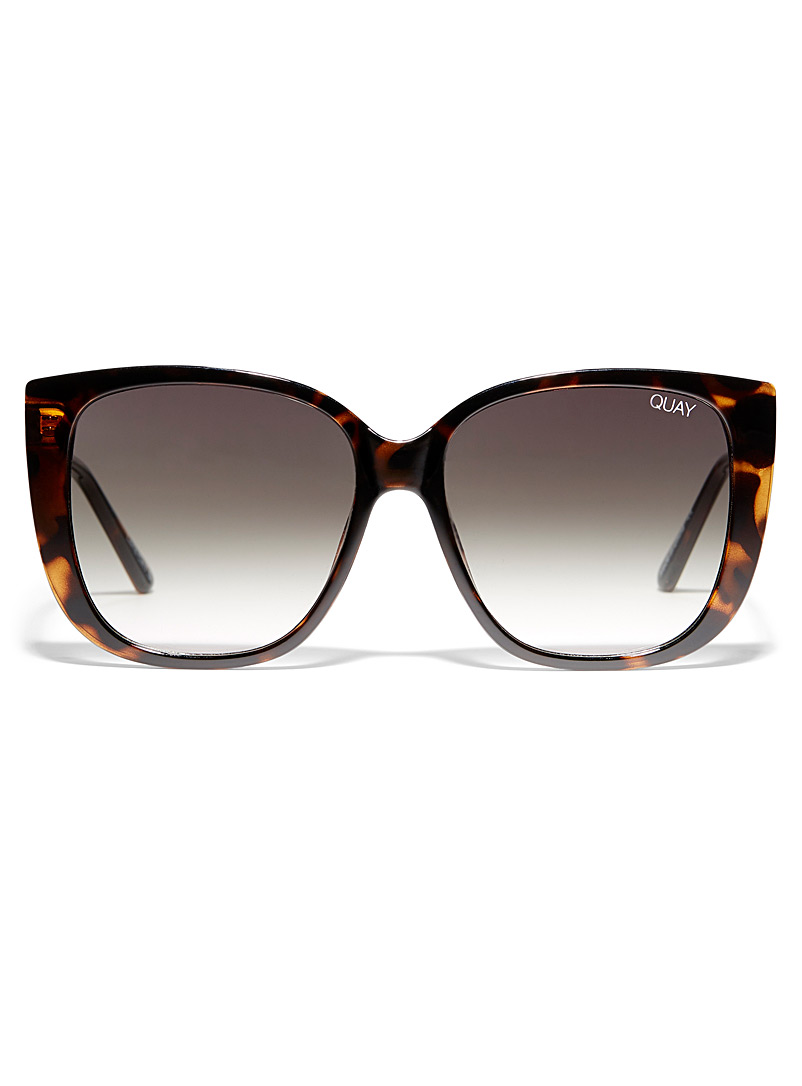 Quay Brown Ever After square sunglasses for women