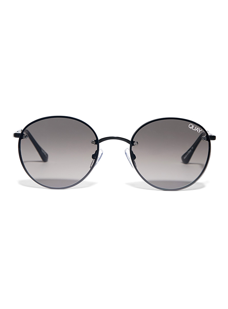 Quay Black Farrah round sunglasses for women