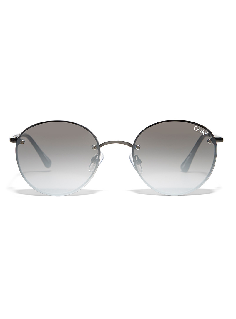 Quay Grey Farrah round sunglasses for women
