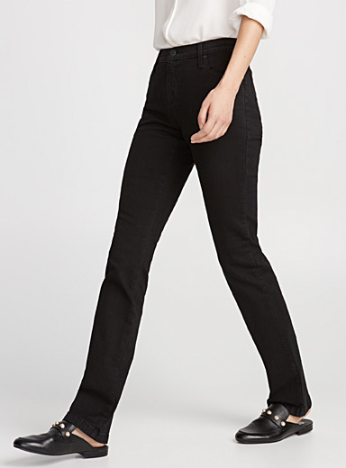 Straight black Yoga jean