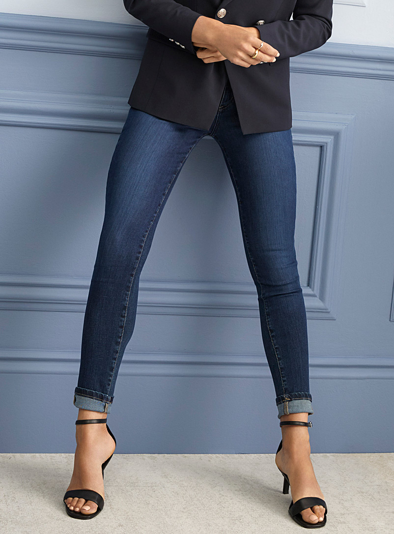 Medium indigo Rachel skinny jean - Regular Waist - Slate Blue