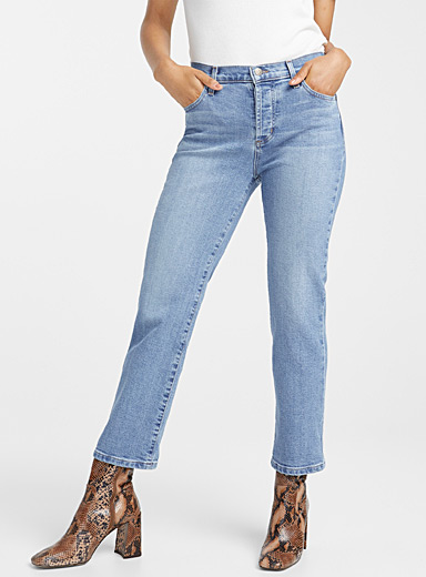 Faded relaxed straight jean