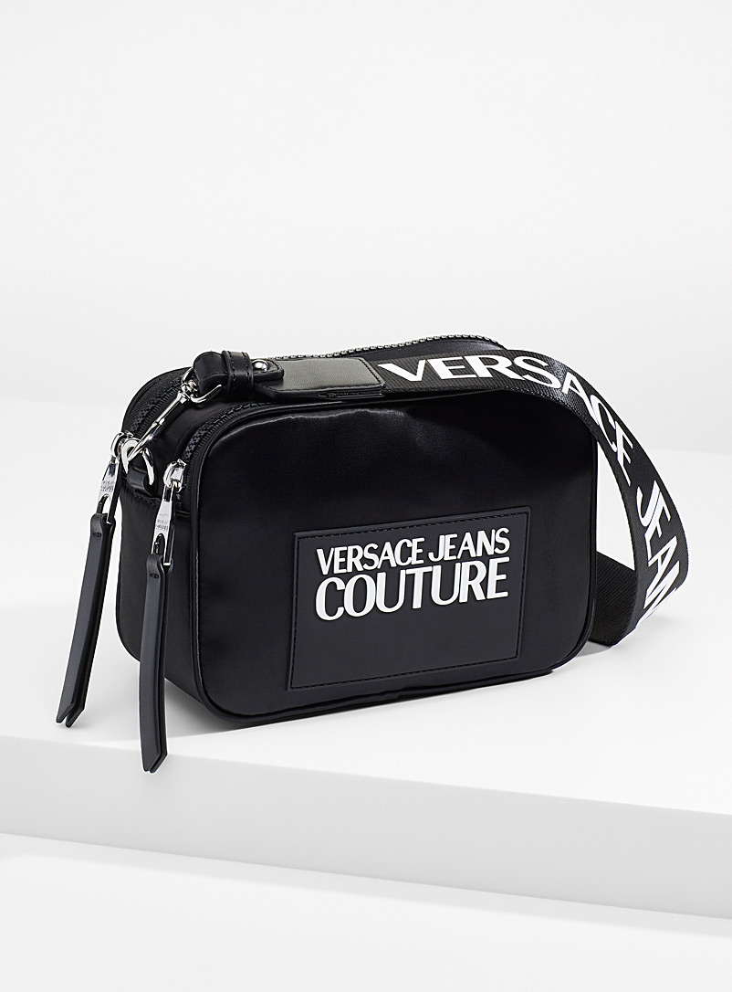 Versace Jeans Couture Black Logo camera bag for women