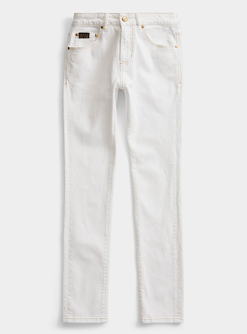 Versace Jeans Couture White White jean for men