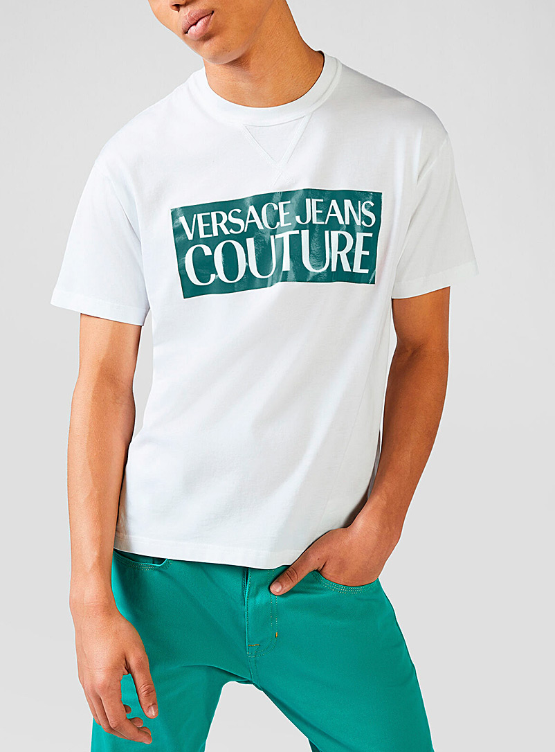 Versace Jeans Couture Teal Logo T-shirt for men