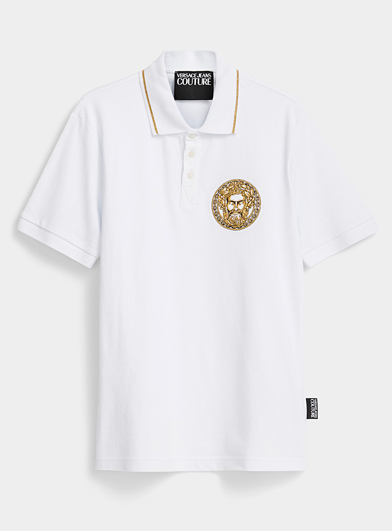 Versace Jeans Couture White Adriano polo for men