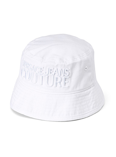 Versace Jeans Couture White Logo bucket hat for women
