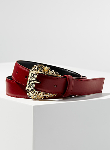 Baroque buckle red belt