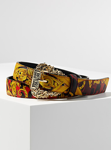 Baroque buckle printed belt