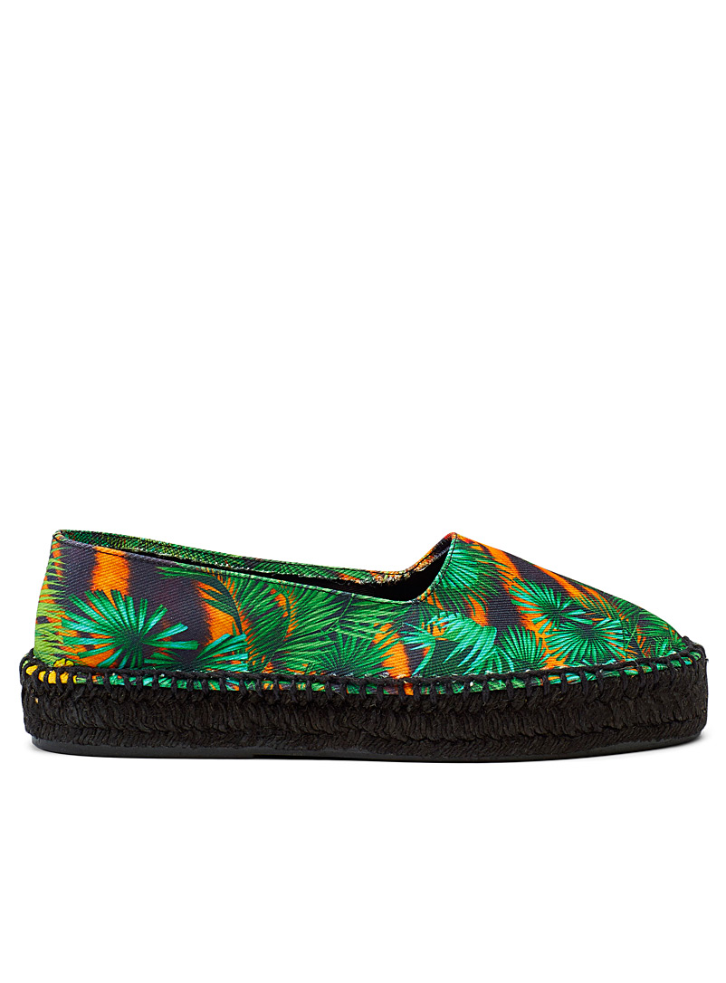Versace Jeans Couture Patterned Green Tropical tiger espadrilles  Women for women