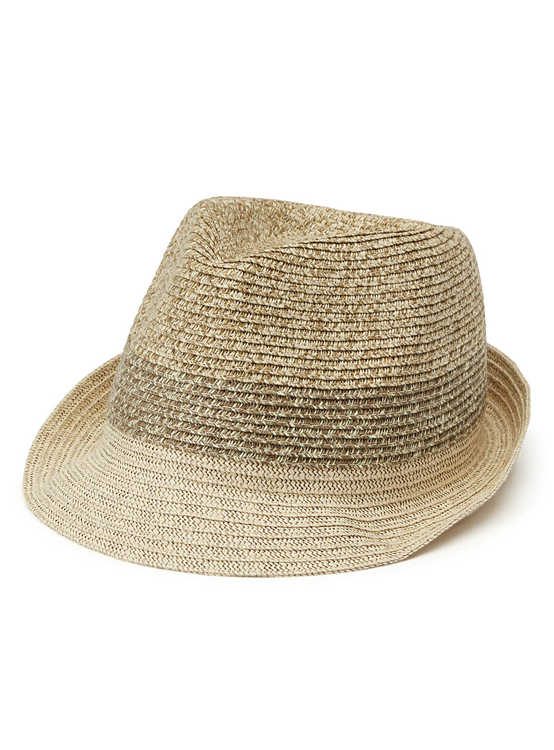 Tricolour Panama hat - Hats - Cream Beige
