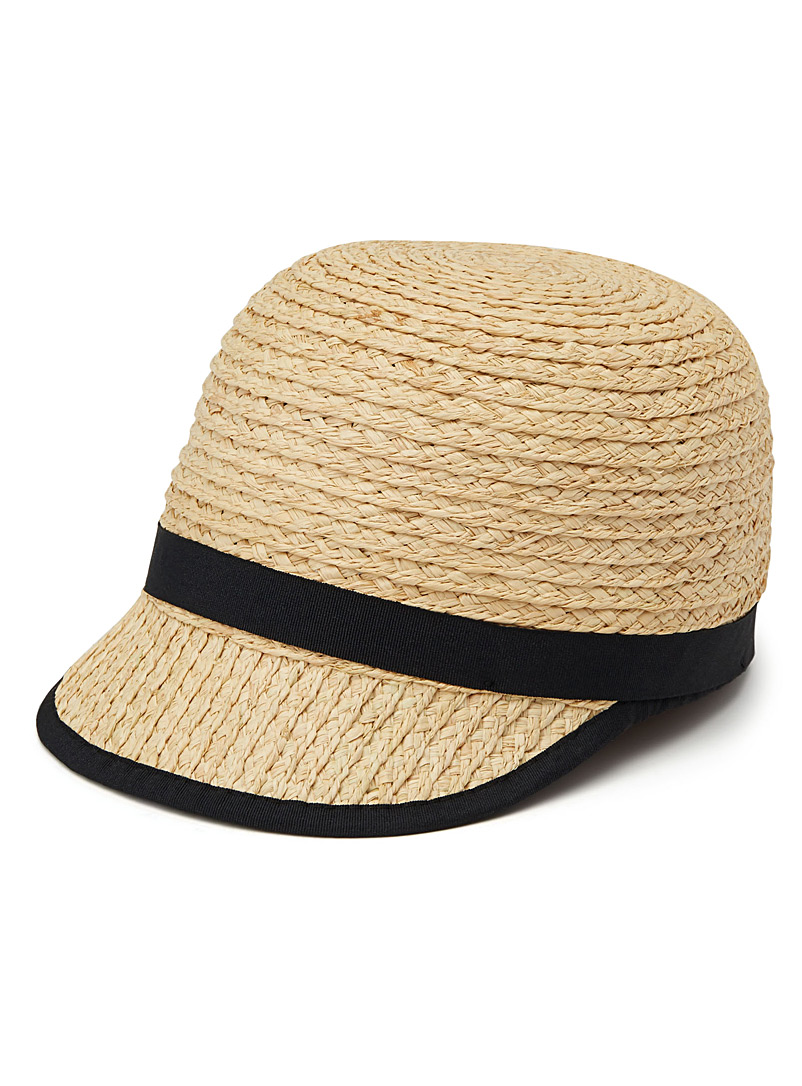 Summery visor cloche - Caps - Cream Beige