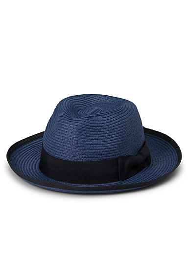 Accent trim Panama hat