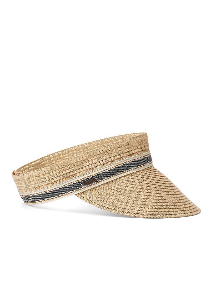 Canadian Hat Cream Beige Chambray band visor for women