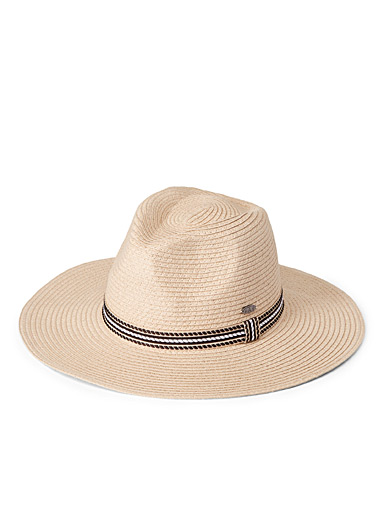 Canadian Hat Cream Beige Classic straw Panama hat for women