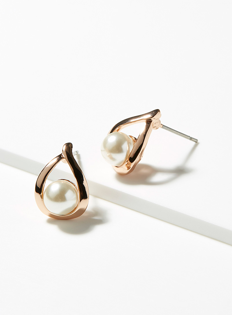 Simons Assorted Pearly teardrop earrings for women