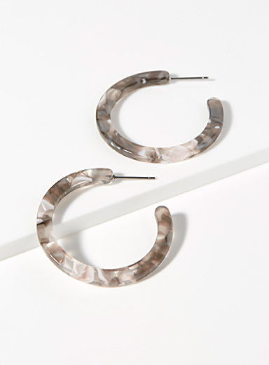 Translucent marbled hoops