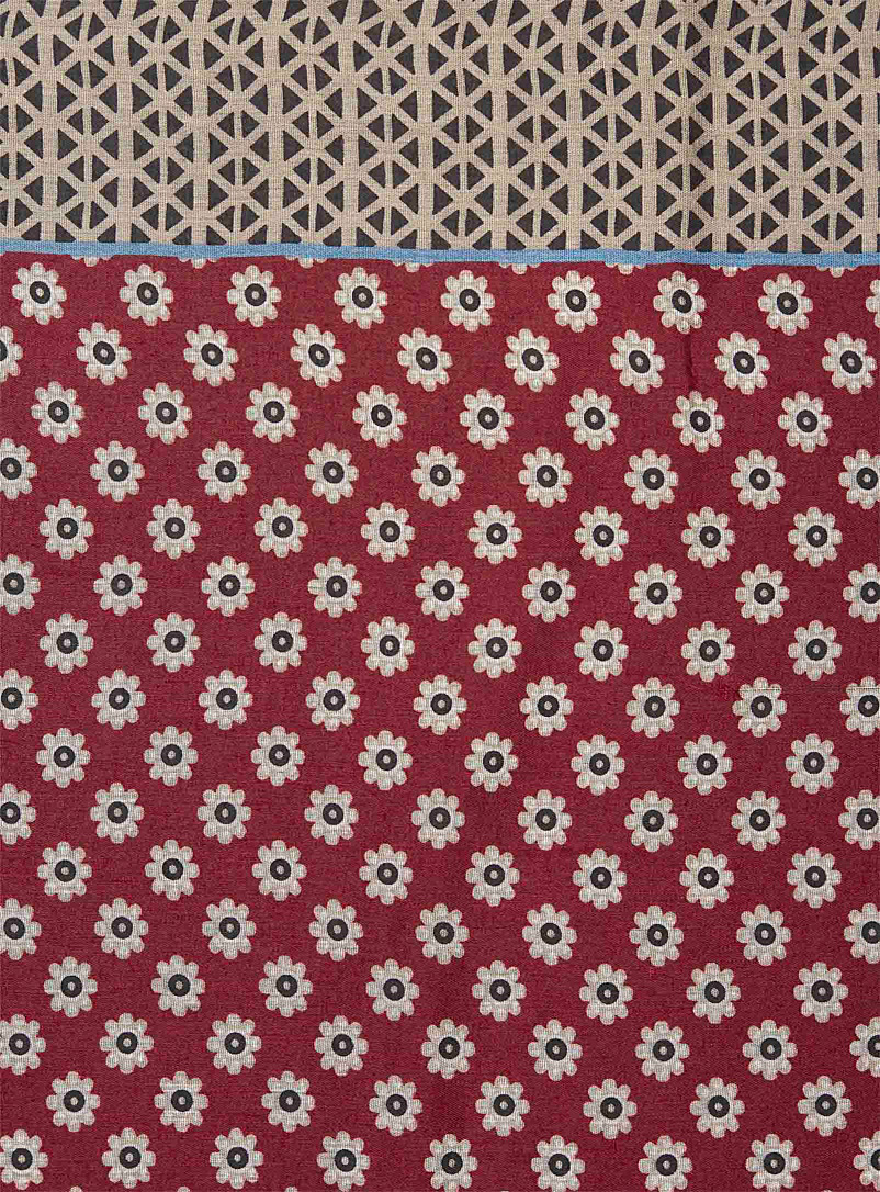Graphic flower scarf - Light scarves - Patterned Red
