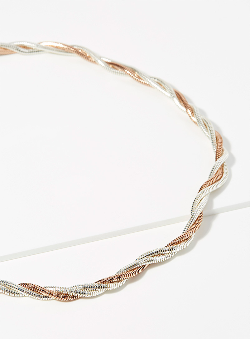 Snakeskin twisted chain - Necklaces - Assorted gold