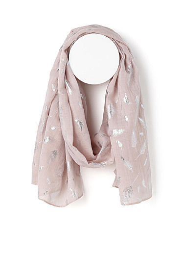 Silver feathers scarf