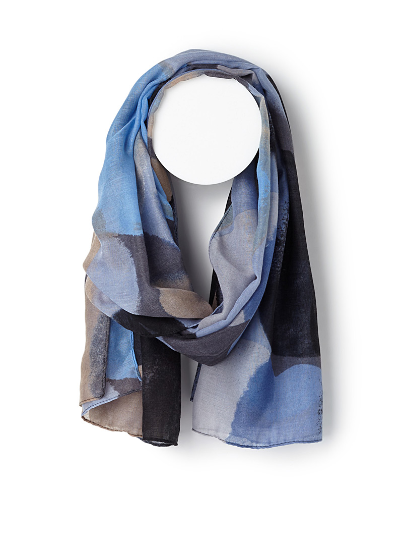 Abstract dot scarf - Light scarves - Patterned Blue
