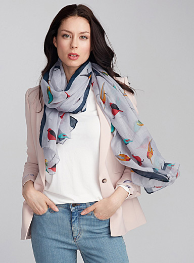 Exotic bird scarf