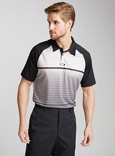 Graphic graded polo