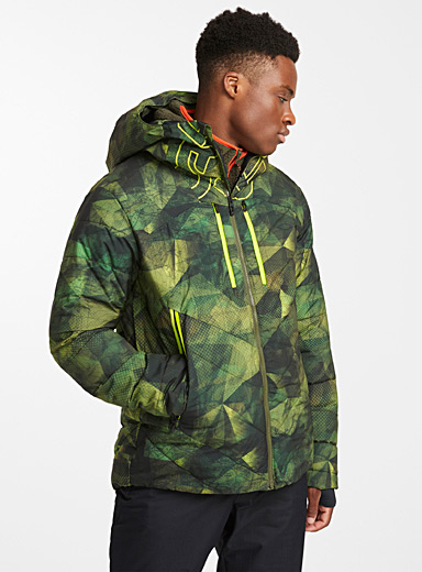 Neon detail insulated coat <br>Regular fit