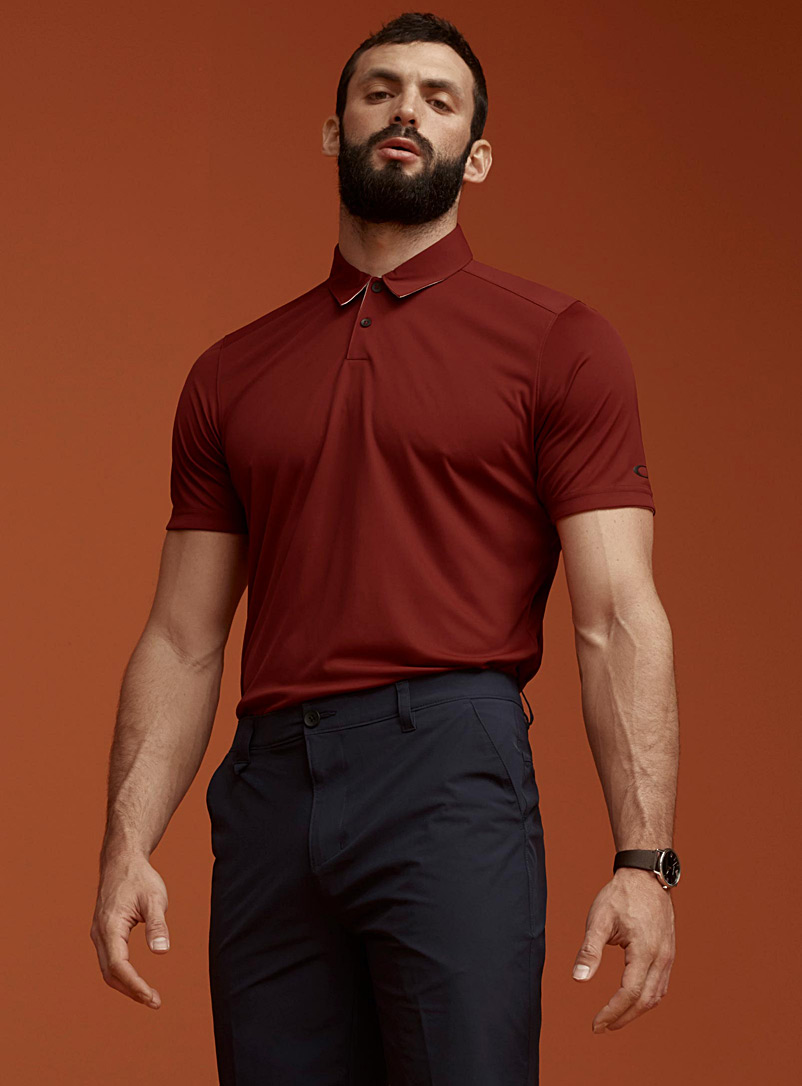Contrasting collar ergonomic polo - Polos - Cherry Red